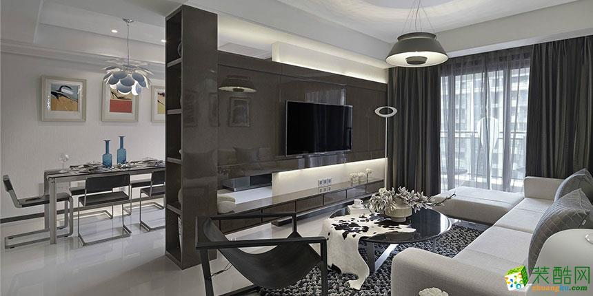 >> 現代風格103平米三居室裝修實景案例圖--華潯品味裝飾