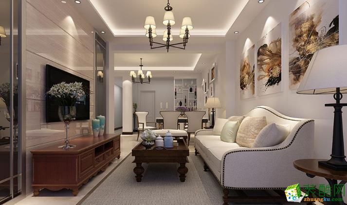 云浮市天匠装饰-三河洲花园简约两居室装修效果图