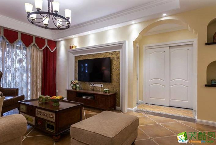 云浮市天匠装饰- 安居楼美式两居室装修效果图