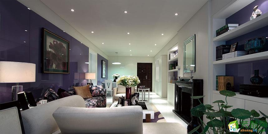 现代风格98平米两室两厅装修实景案例图--画美居装饰