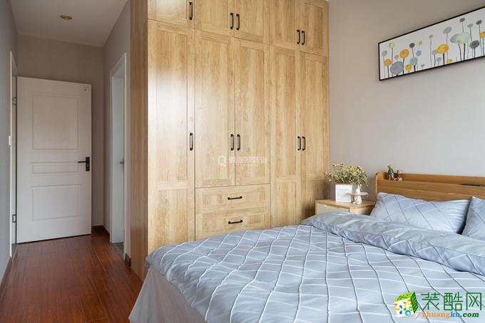 九龙花园85平米三室|现代北欧风格装修案例图赏析--俏业家装饰