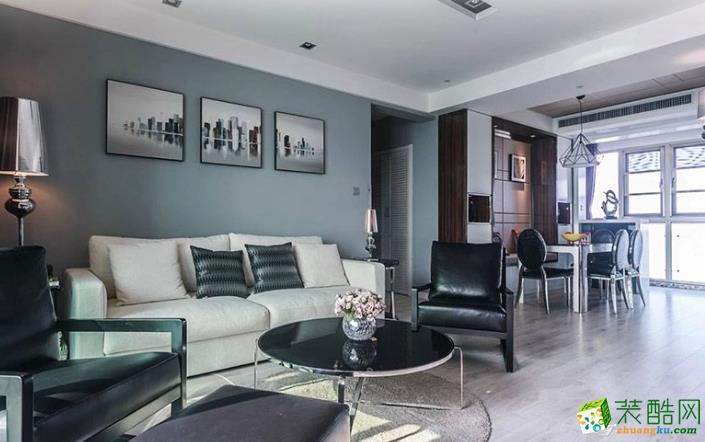 云浮托美尔装饰--美好华庭简约两居室装修效果图