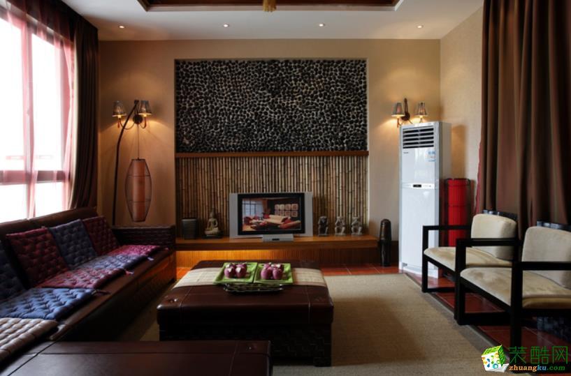 东南亚210平米跃层住宅装修效果图--中恒装饰
