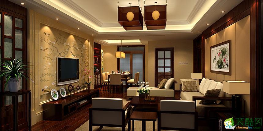 中式风格151平米四室两厅装修实景案例图--中恒装饰