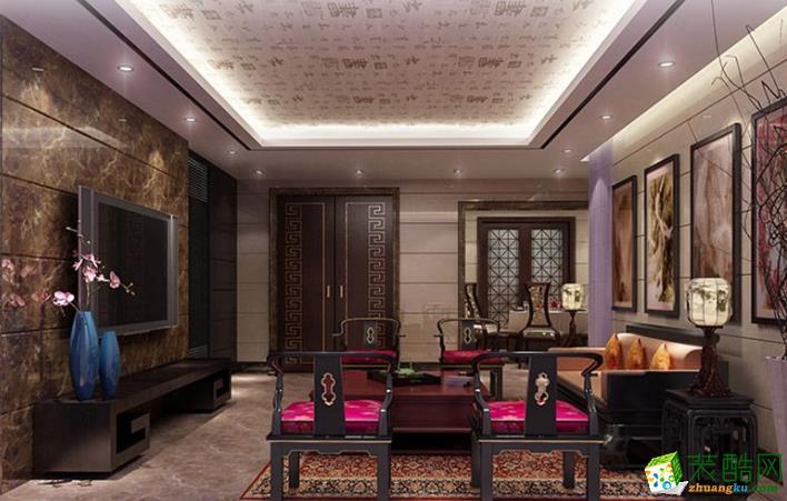 广州市中御装饰-金辉大厦中式两居室装修效果图