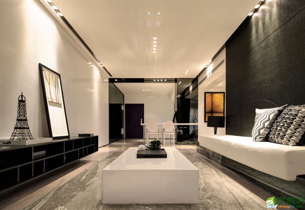 现代风格84平米两室两厅装修实景案例图--捷诚装饰