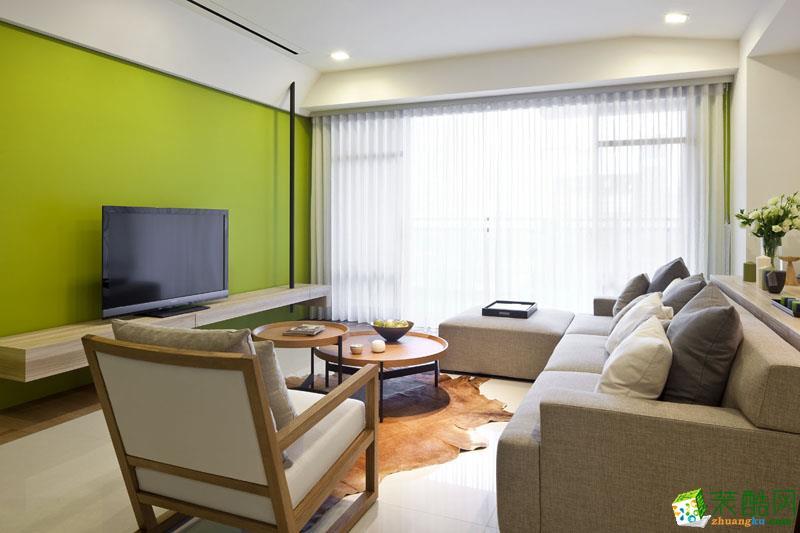 108平米现代风格三室两厅装修效果图--品匠装饰