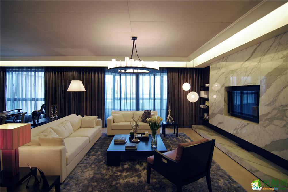 93平米港式风格两室两厅装修实景案例图--鸿盛装饰