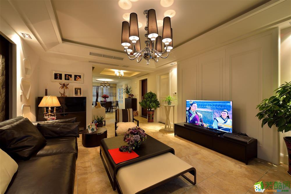 120平米美式风格三室两厅装修实景案例图--名匠装饰