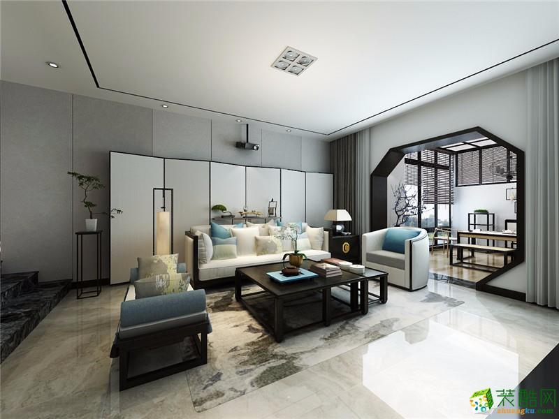 宝龙建筑装饰-龙湾假日中式两居室装修效果图