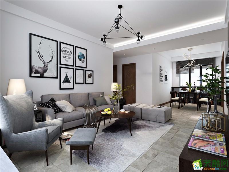 宝龙建筑装饰-黎明小区北欧两居室装修效果图