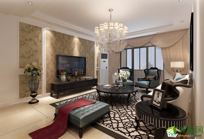 金阳装饰-红升小区欧式两居室装修效果图