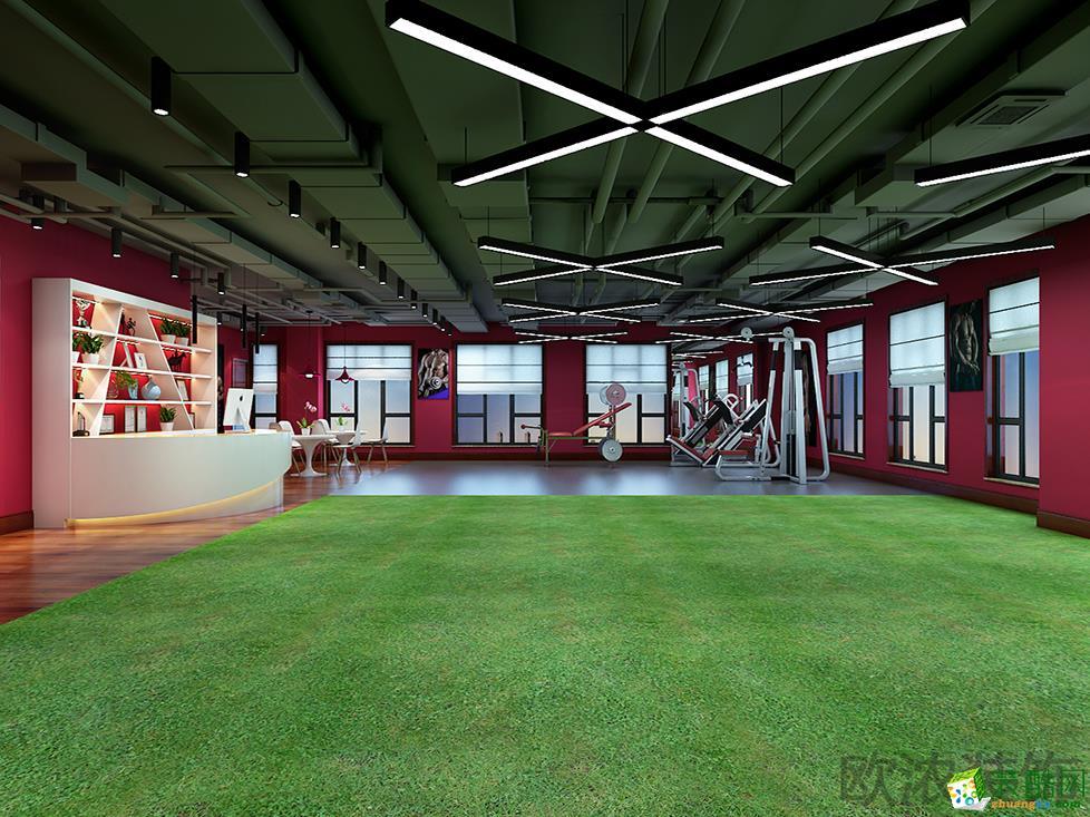 『西安欧浓装饰』260平米现代风格健身房装修设计方案