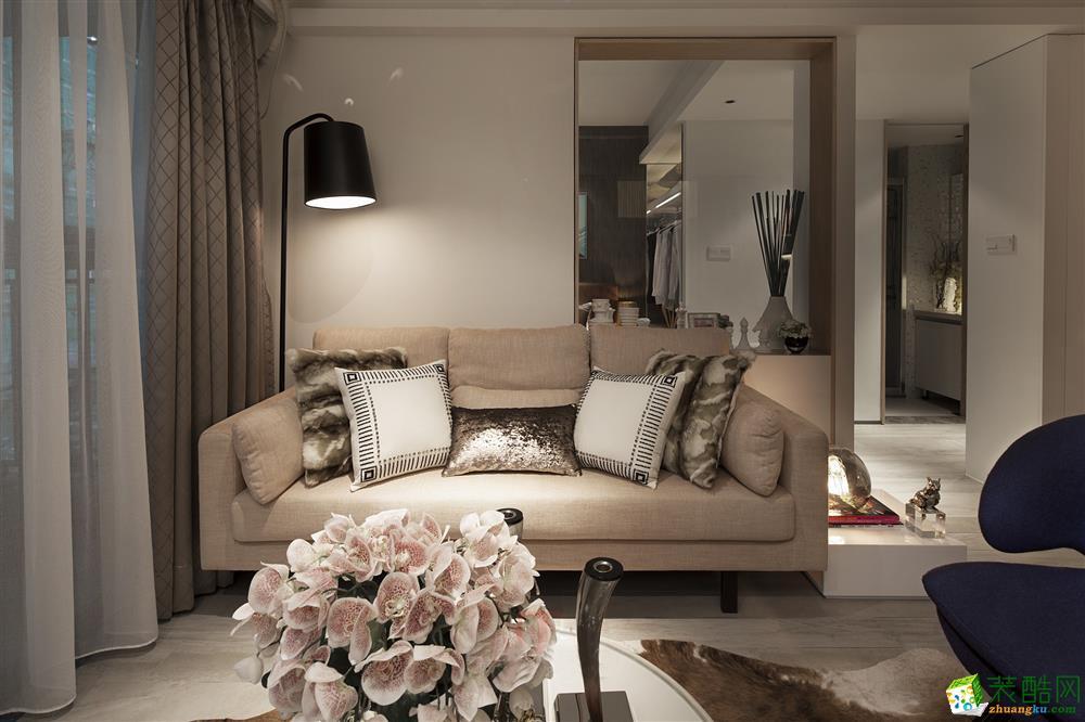 华格装饰―75方现代简约风格两室两厅装修设计效果图