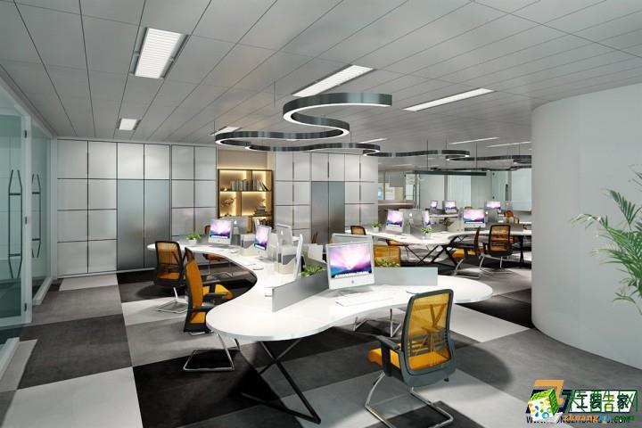 西安互联网企业办公室装修设计图