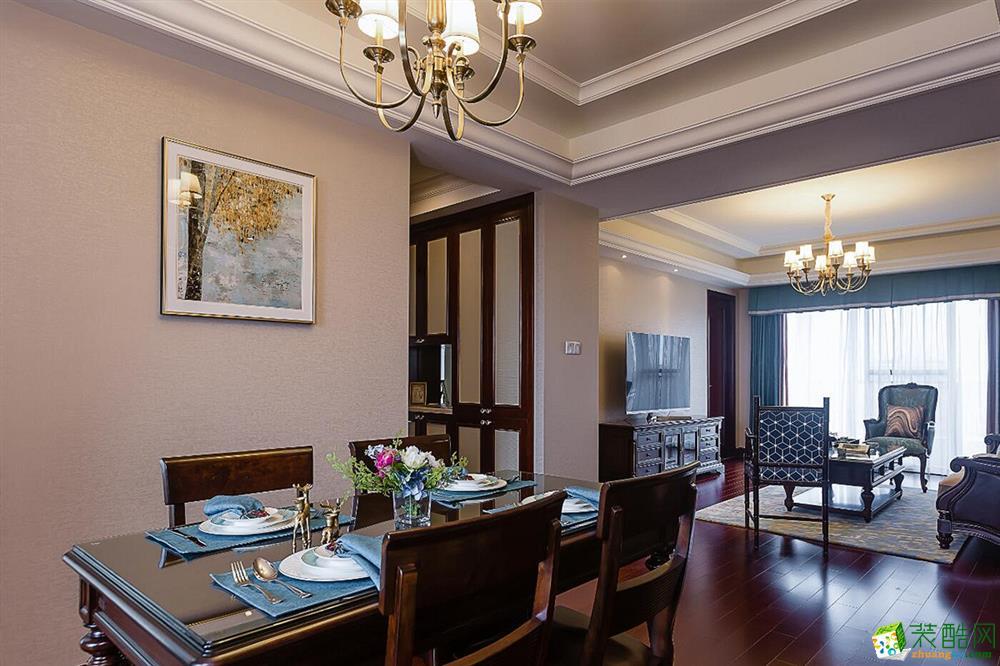 协信town城150平米古典美式风格四室两厅装修效果图赏析--业之峰装饰