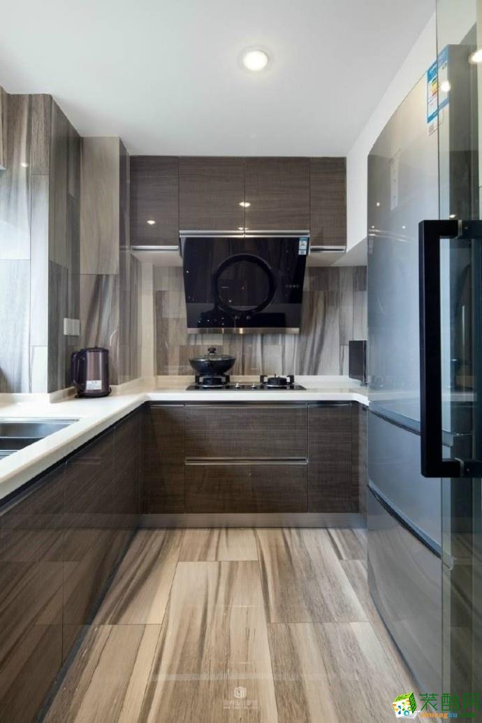 厨房76平米竣工装修效果图