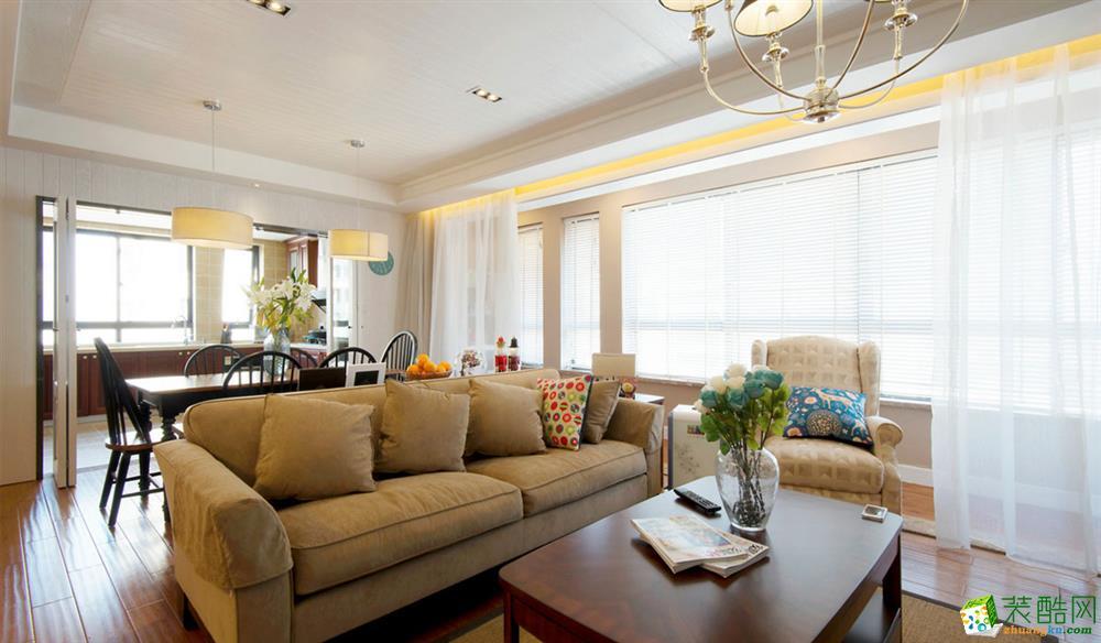 现代风格103平米三居室装修实景案例图--诺亿装饰