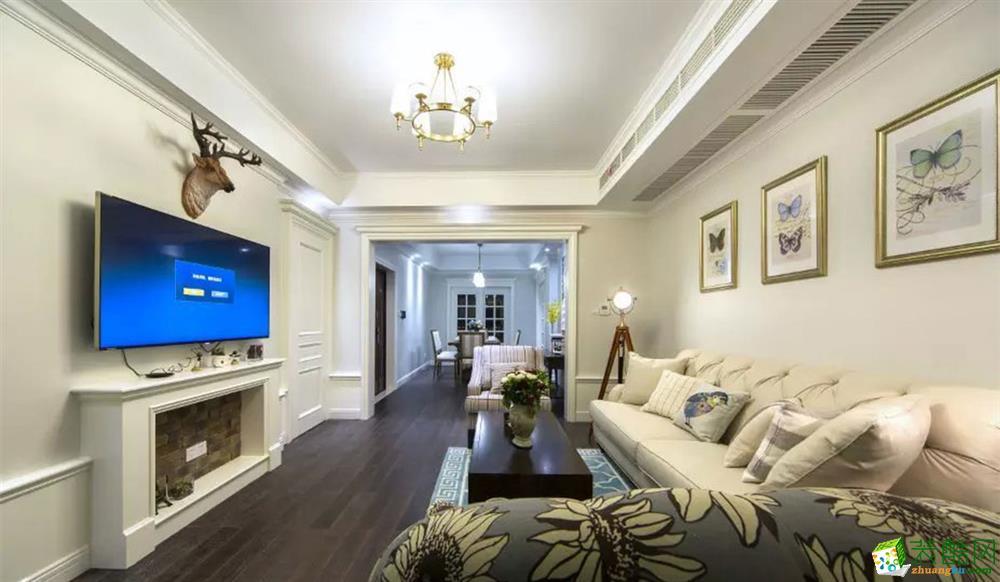 125平米简欧风格三室两厅装修效果图--诺亿装饰