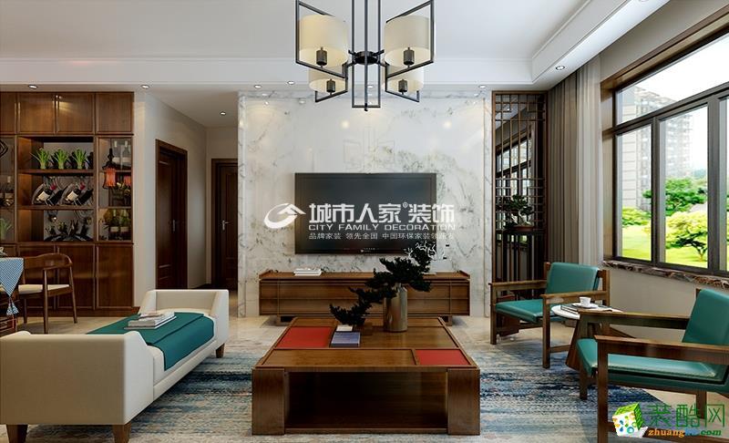 龙湾写意139平米新中式风格样板间设计,典雅之气!
