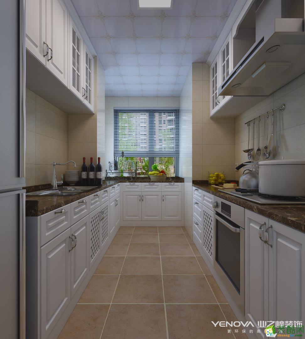 [厨房]隆鑫鸿府美式风格138平米四室两厅装修效果图赏析--业之峰装饰