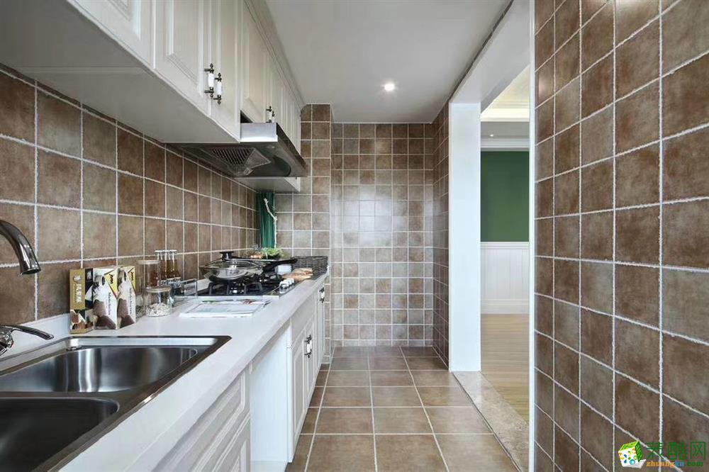 厨房  120�O现代美式混搭风家居装修