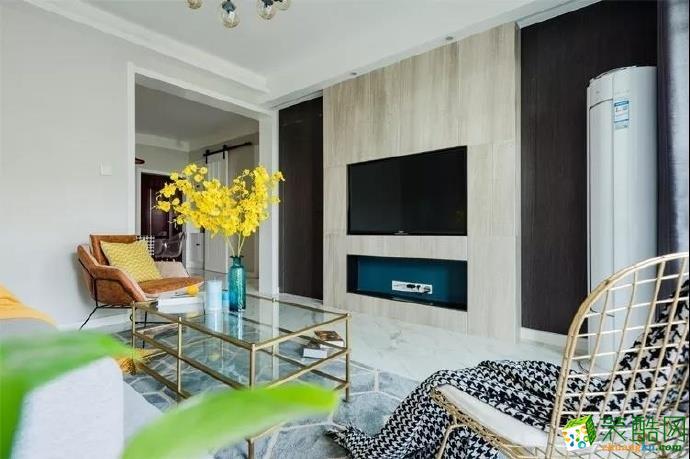 北欧风格87平米两室两厅装修实景案例图--装品荟装饰