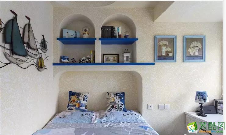 卧室  闽东装饰样板间70平蓝白地中海二室 在家遐想爱琴海