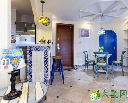 餐厅  闽东装饰样板间70平蓝白地中海二室 在家遐想爱琴海