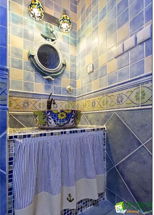 卫浴  闽东装饰样板间70平蓝白地中海二室 在家遐想爱琴海