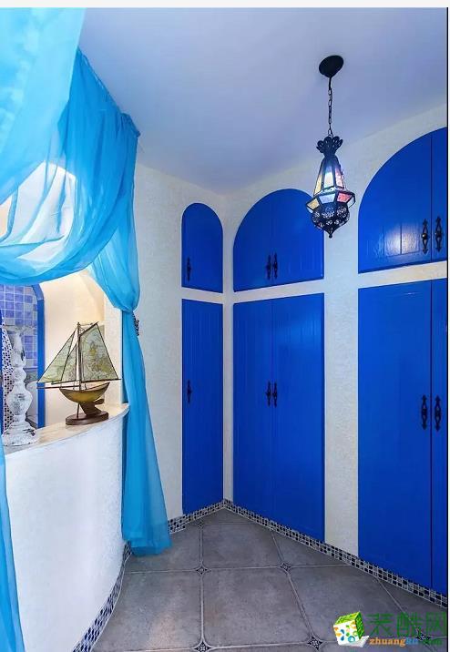 衣柜  闽东装饰样板间70平蓝白地中海二室 在家遐想爱琴海