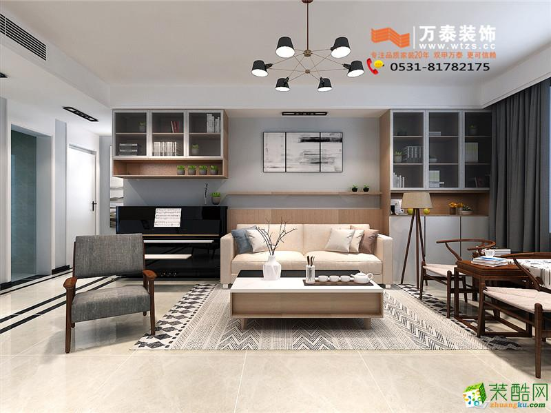 济南百步亭(中国MALL)125平混搭风格装修设计