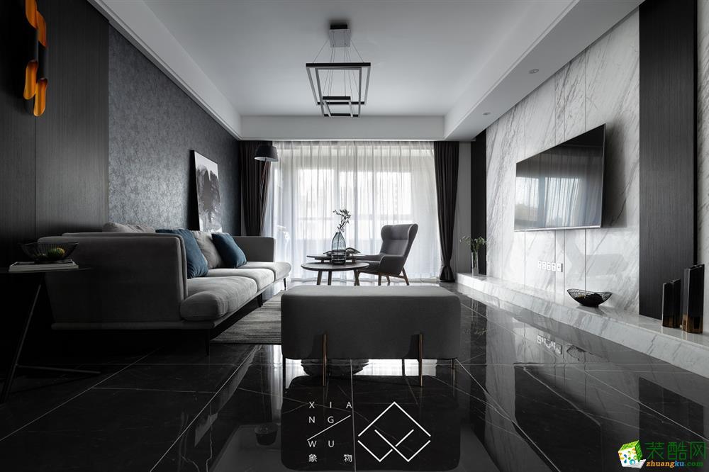 客厅  金山小区―现代美式