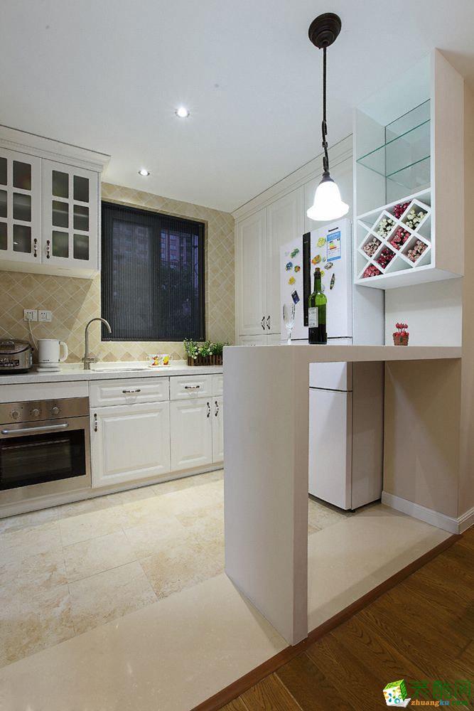 厨房 东原星樾85平米美式风格三室两厅装修效果图赏析--佩奇装饰 东原