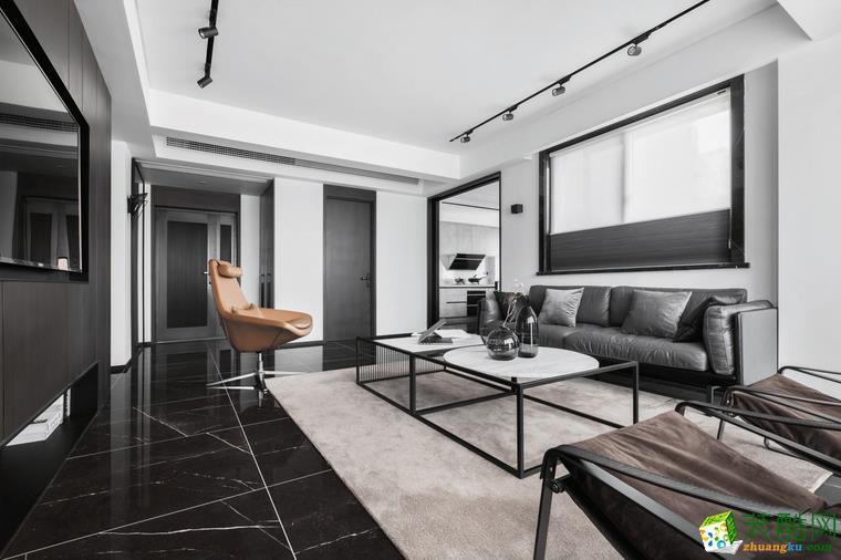 融景城融御98平米现代风格三室两厅装修效果图--佩奇装饰