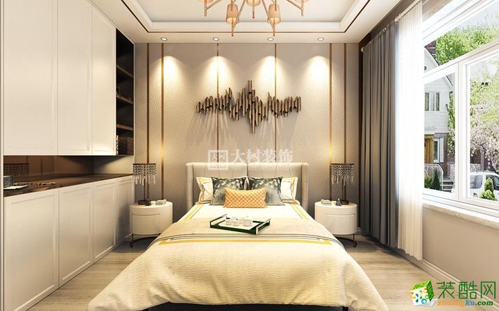 卧室【大树装饰】钻石湾90㎡轻奢风格装修效果图 【大树装饰】钻石湾