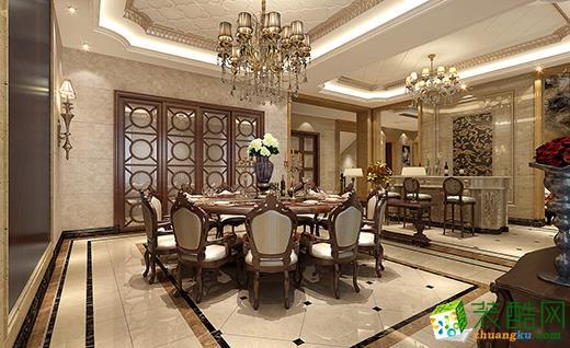 奥法庄园450平米独栋别墅欧式风格设计效果图--腾龙设计