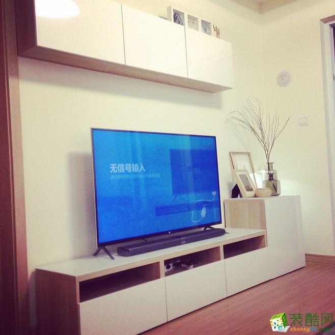 【上宸宅配】现代简约风格80平米三居室装修效果图--上宸装饰