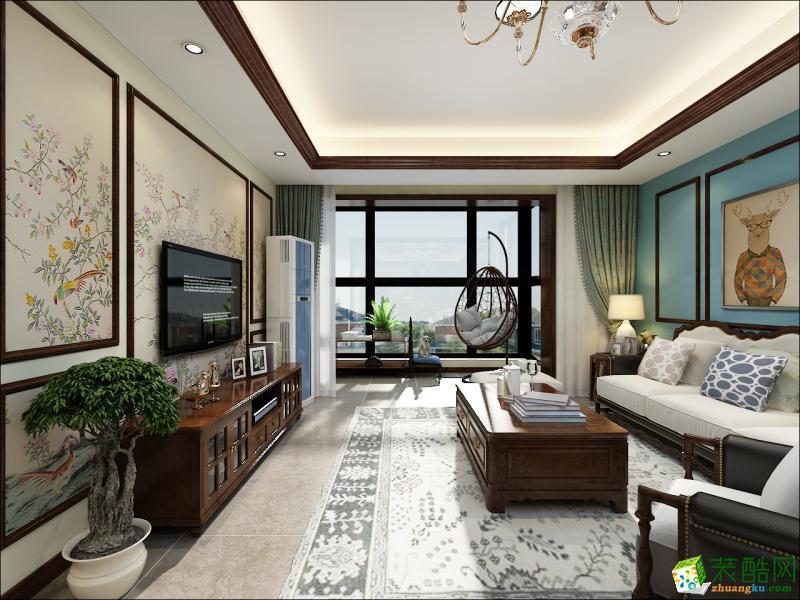 北京彩虹城90方两室一厅现代风格装修效果图