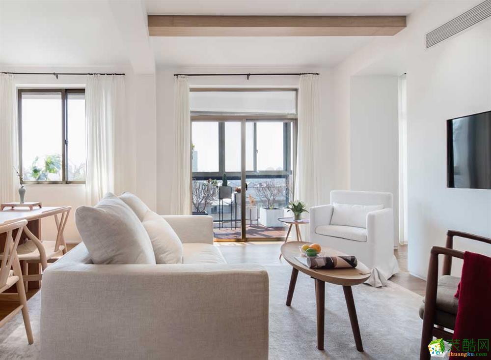 凤凰语郡130平米现代简约风格三室两厅装修案例效果图--众意装饰