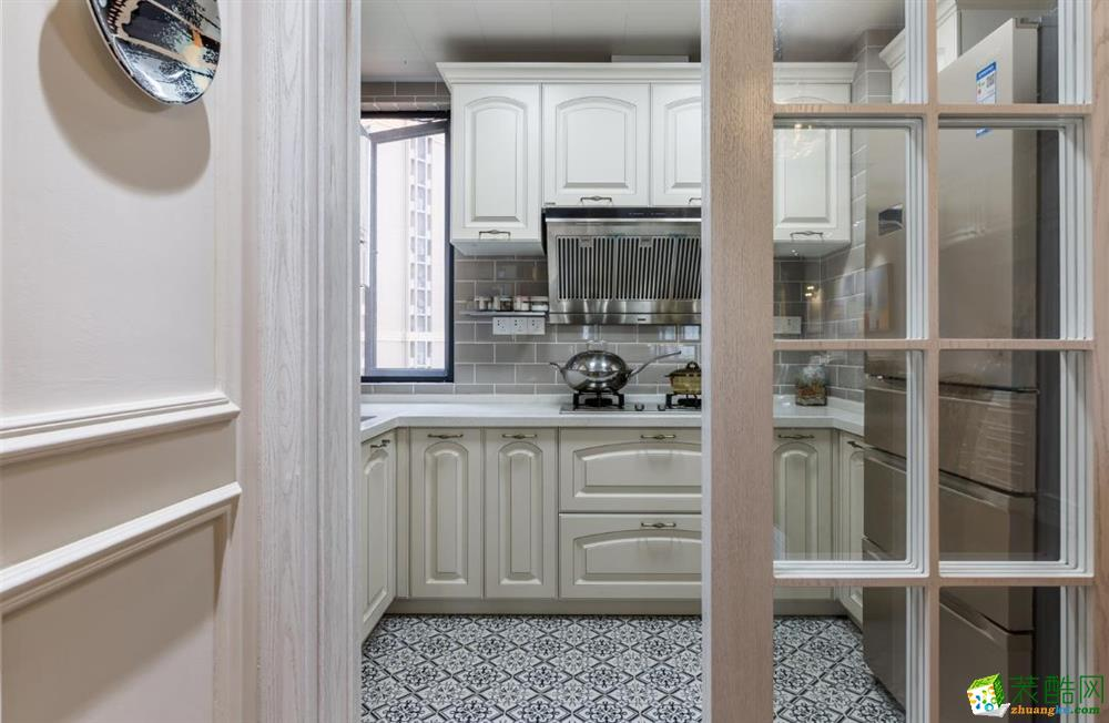 厨房 天宫花城120平米美式风格三室两厅装修实景案例图赏析--佩奇装饰 天宫花城