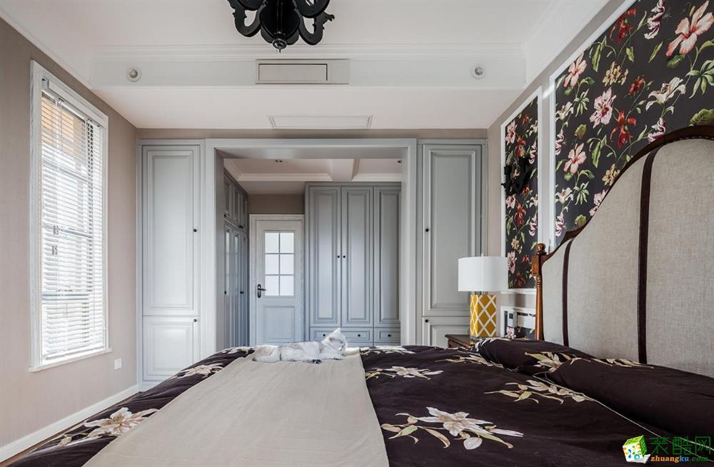 卧室 天宫花城120平米美式风格三室两厅装修实景案例图赏析--佩奇装饰 天宫花城
