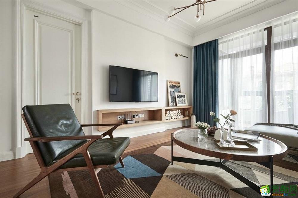 客厅 【维享家】湖霞郡100平米北欧风格三室一厅装修案例效果图赏析。 【维享家】湖霞郡