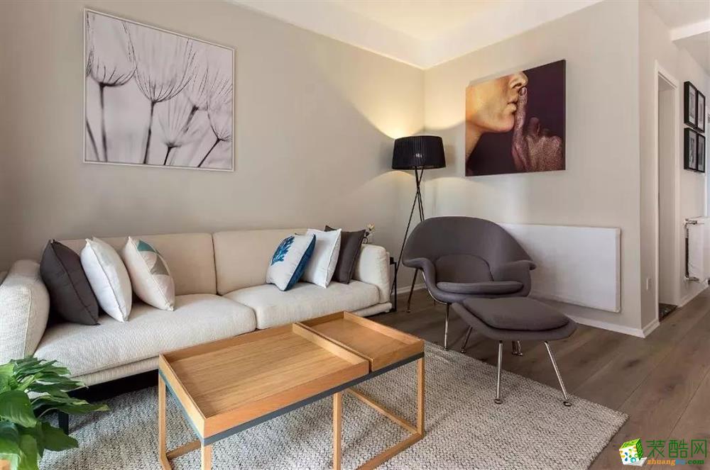 客厅  96�O自然原木风,营造很高级的感觉!