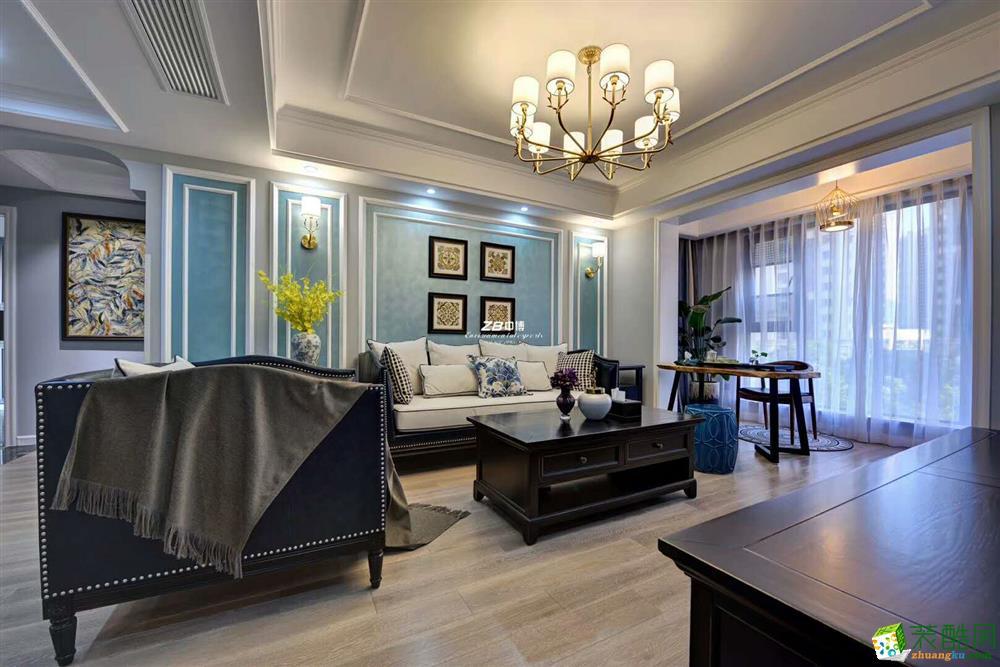 中博装饰--中海国际139方美式风格四室两厅装修