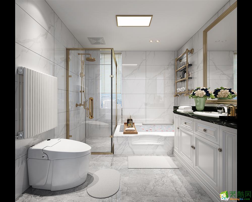 海棠湾美式风格170平米四室两厅装修案例效果图--朗润