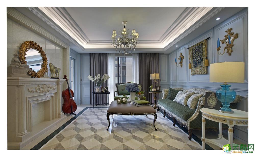 客厅 美式古典风格装修效果图欣赏 美式古典风格