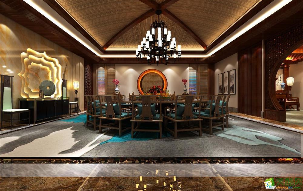 1000平方四合院別墅裝修設計案例效果圖--騰龍設計