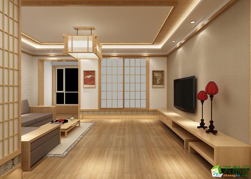 跃层一楼花园效果图_三室一厅一卫日式装修效果图_三室一厅一卫日式装修图片_装酷网