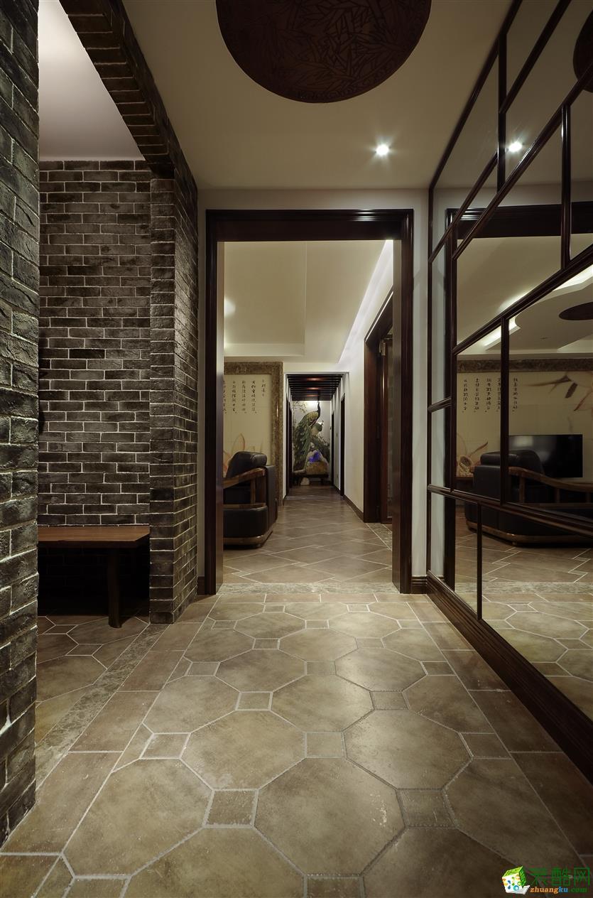 鸿扬家装-金色溪泉湾-四室两厅装修效果图